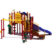 UPlay Today™ Eagle Rock Commercial Playground Playset, Playful (Red, Yellow, Blue)