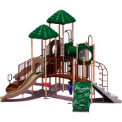 UPlay Today™ Clingman's Dome Commercial Playground Playset, Natural (Green, Tan, Brown)