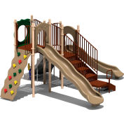 UPlay Today™ Aiden's Pass Commercial Playground Playset, Natural (Green, Tan, Brown)