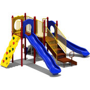 UPlay Today™ Aiden's Pass Commercial Playground Playset, Playful (Red, Yellow, Blue)