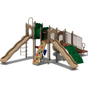 UPlay Today™ Boulder Point Commercial Playground Playset, Natural (Green, Tan, Brown)