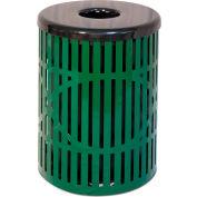 UltraPlay 55 Gallon Wave Trash Receptacle, Beige - W-55-BGE
