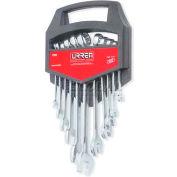 Urrea Metric Combination Wrench Set, 1200IM, 6 & 12 Pt, 6-19 mm Opening Sizes, 11 Pcs