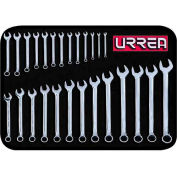 Urrea Metric Combination Wrench Set, 1200QM, 6 & 12 Pt, 6-32 mm Opening Sizes, 26 Pcs