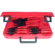 Urrea Convertible Retaining Ring Pliers Set, 360B, 12 Piece Set