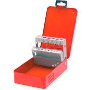 """Urrea Drill Bits Metal Tool Box, 4077, 7""""L X 4-3/8""""W X 2-1/8""""H, 18 Sheet Gauge"""
