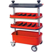 Urrea 4 Trays Collapsible Tool Trolley, 9982, 27.5Lx0Wx35.4375H