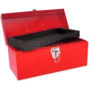 """Urrea Metal Tool Box, D2, 14-1/5""""L X 6-1/3""""W X 6-7/8""""H, 24 Sheet Gauge"""