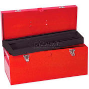 "Urrea Heavy Duty Metal Tool Box, D6, 20""L X 8-4/9""W X 9-4/9""H, 24 Sheet Gauge"
