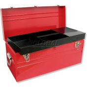 "Urrea Metal Tool Box, D8, 23-3/4""L X 10""W X 11-1/8""H, 22 Sheet Gauge"