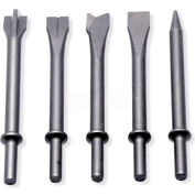 Urrea Assorted Hammer Chisel Tips UP711K5, 5 Pieces