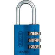 ABUS Anodized Aluminum Resettable 3-Dial Combination Lock 145/30 C - Blue - Pkg Qty 6
