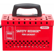 ABUS B835RED Safety Redbox Group Lockout Box with 12 padlock eyelets, Red, 00298 - Pkg Qty 2