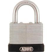 "ABUS Economy Laminated Steel Padlock 45/40 C KD 17/64"" Dia. Shackle - Keyed Different 1-1/2""W - Pkg Qty 3"