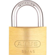 "ABUS Solid Brass Padlock 55/45 B KD Hardened Steel Shackle - Keyed Different 1-3/4"" - Pkg Qty 6"