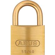 "ABUS Solid Brass Padlock 55MB/40 B KA with Brass Shackle - Keyed Alike 1-1/2"""