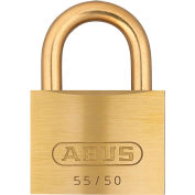 ABUS Solid Brass Padlock 55MB/50 B KA with Brass Shackle - Keyed Alike 2""