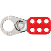 """ABUS STO701 Steel Safety Lockout Hasp, 1""""  Jaw w/o tabs, 93101A - Pkg Qty 24"""