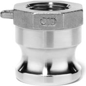 """1-1/2"""" 316 Stainless Steel Type A Adapter with Threaded NPT Female End"""