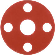 """Full Face Silicone Flange Gasket for 1-1/2"""" Pipe-1/16"""" Thick - Class 150"""