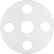 """Full Face Compressible PTFE Flange Gasket for 2 -1/2"""" Pipe-1/16"""" Thick - Class 150"""