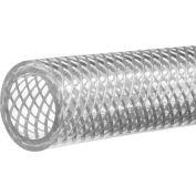 "Reinforced High Pressure Clear PVC Tubing-1/2""ID x 5/8""OD x 100 ft."