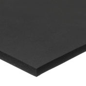 "Black Silicone Foam Sheet with High Temp Adhesive - 1/4"" Thick x 12"" Wide x 24"" Long"