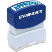 "U.S. Stamp & Sign Stamp-Ever® Pre-Inked Stamp, APPROVED, 9/16"" x 1-11/16"", Blue"