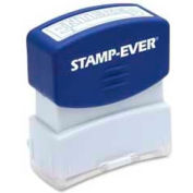 "U.S. Stamp & Sign Stamp-Ever® Pre-Inked Stamp, ENTERED, 9/16"" x 1-11/16"", Blue"