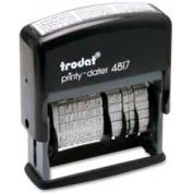 "U.S. Stamp & Sign Trodat® Self-inking Message/Date Stamp, 12 Phrases, 3/8"" x 2"", Black"