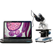 AmScope B120C-E 40X-2500X LED Digital Binocular Compound Microscope with 3D Stage + USB Camera