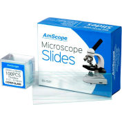 AmScope BS-50P-100S-22 50 pcs. Pre-Cleaned Blank Microscope Slides and 100 pcs. Square Cover Slips