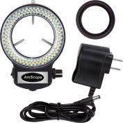 AmScope LED-144B-ZK LED Adjustable Compact Microscope Ring Light with Adapter