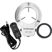 AmScope LED-56S 56-LED Microscope Ring Light with Dimmer