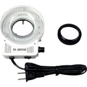 AmScope LED-80S 80-LED Microscope Compact Ring Light with Built-in Dimmer