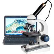 AmScope M150C-E5 40X-1000X LED Coarse & Fine Focus Science Student Microscope with 5MP USB Camera