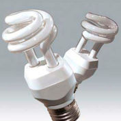 Ushio 3000554 Cf18clt/4100/E26, Coilight, Coil, 18 Watts, 10000 Hours- Cfl Bulb - Pkg Qty 10
