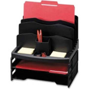 Sparco Organizer w/ 2 Letter Trays & 9 Compartments Black