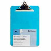 "Sparco™ Spring Clip Plastic Clipboard, 9"" x 12-1/2"", Blue"
