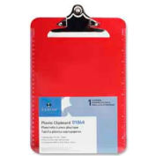 """Sparco™ Spring Clip Plastic Clipboard, 9"""" x 12-1/2"""", Red"""