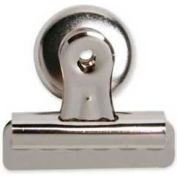 """Sparco™ Bulldog Magnetic Clip, Size #2, 2-1/4"""" Width, 1/2"""" Capacity, Silver, 1 Each"""