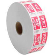 Sparco™ Double Ticket Roll, Red, 2000/Roll