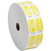 Sparco™ Double Ticket Roll, Yellow, 2000/Roll