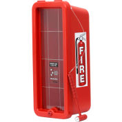 Cato Chief Plastic Fire Extinguisher Cabinet, Fits 5 Lbs. Extinguisher, Red