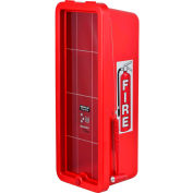 Cato Chief Plastic Fire Extinguisher Cabinet, Fits 10 Lbs. Extinguisher, Red