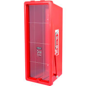 Cato Chief Plastic Fire Extinguisher Cabinet, Fits 20 Lbs. Extinguisher, Red