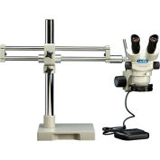 Luxo System 273 Binocular Microscope, Dual Boom Stand, Dimmable LED Ring Light, 7X-45X