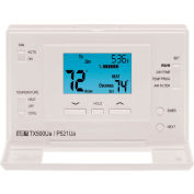 LUX Low Voltage Digital 7-Day Programmable Thermostat P521U - 2 Stage Heat 1 Cool Heat Pump 24 VAC
