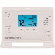 LUX Low Voltage Digital 7-Day Programmable Thermostat P521U - 2 Stage Heat 1 Cool Heat Pump 24 VAC