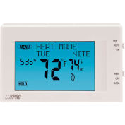 LUX Low Voltage Digital 7-Day Programmable Thermostat P721UT - 2H/1C Heat Pump 24VAC Touch Screen